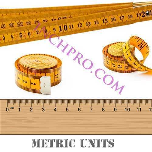 Convert inches to metric units