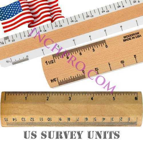Convert Inches to US Survey units