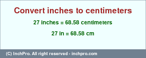 How tall is 68 cm in feet and inches? How high is 68 cm? Use this easy calculator to convert centimeters to feet and inches.