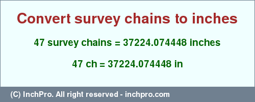 47 Ch In Inches Convert Survey