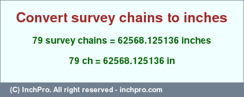 Result Converting 79 Survey Chains To Inches 62568 125136